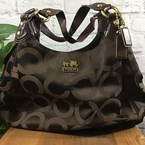 🍃Coach brown and gold hobo shoulder bag purse
